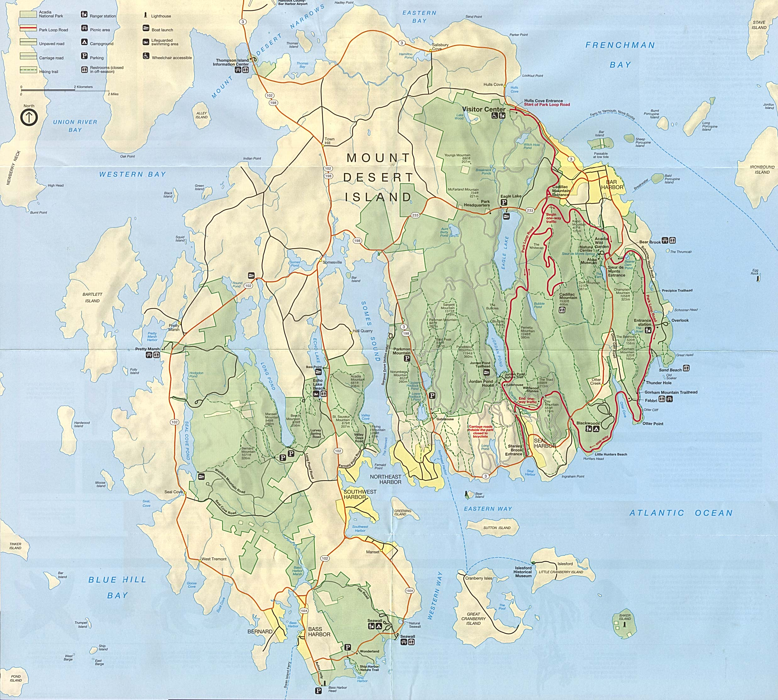 Topography Map Of Maine.Maps Of United States National Parks And Monuments