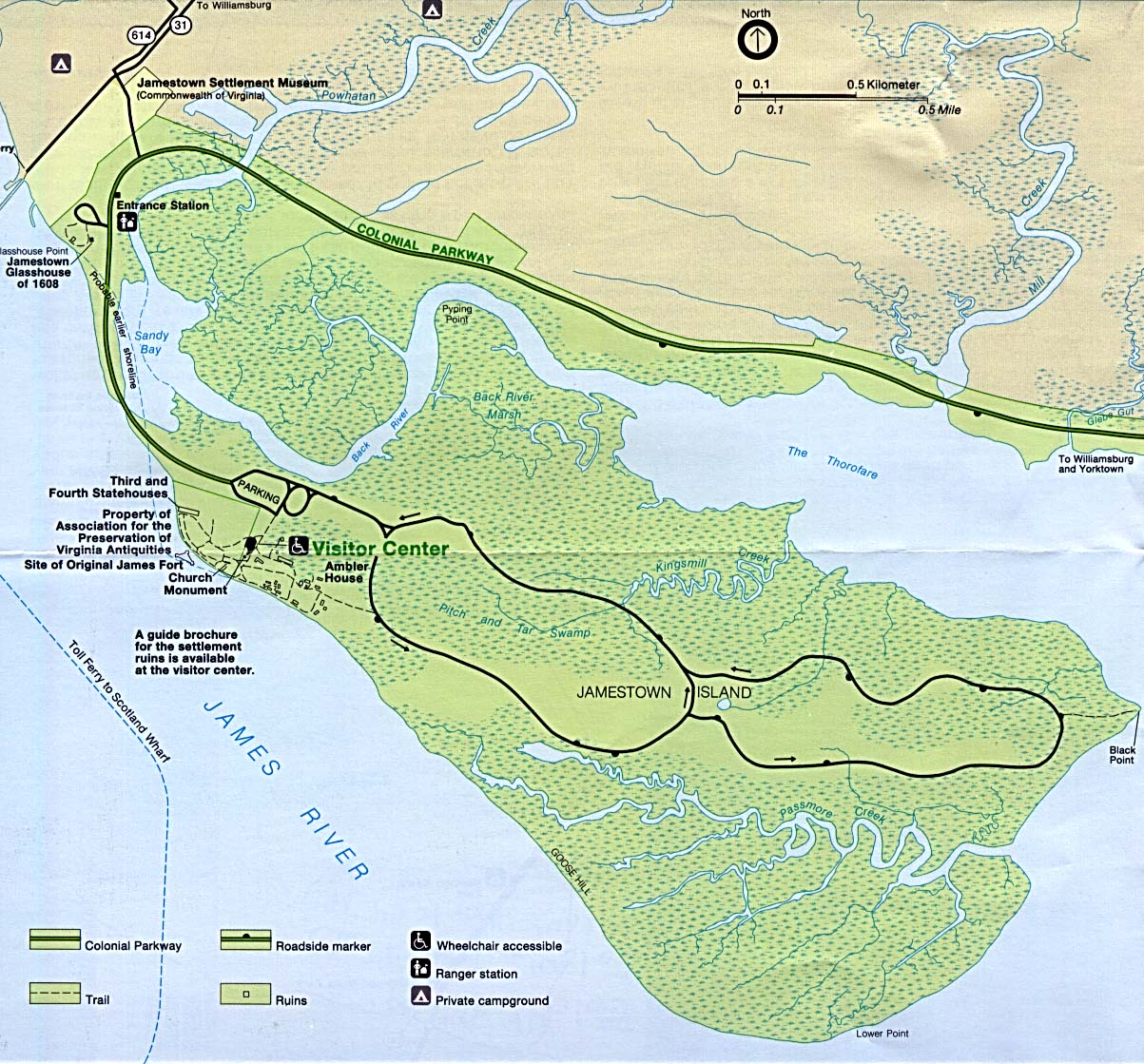 Maps of National Historic & Military Parks, Memorials, and Battlefields