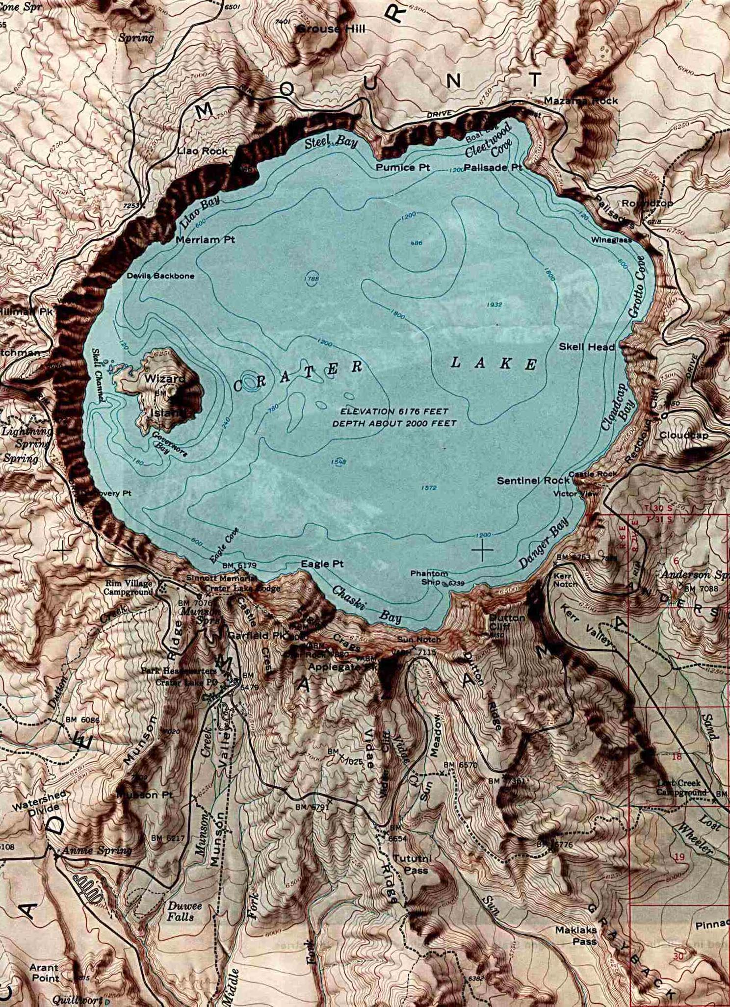 Maps Of United States National Parks And Monuments - Jamaica shaded relief map 1968