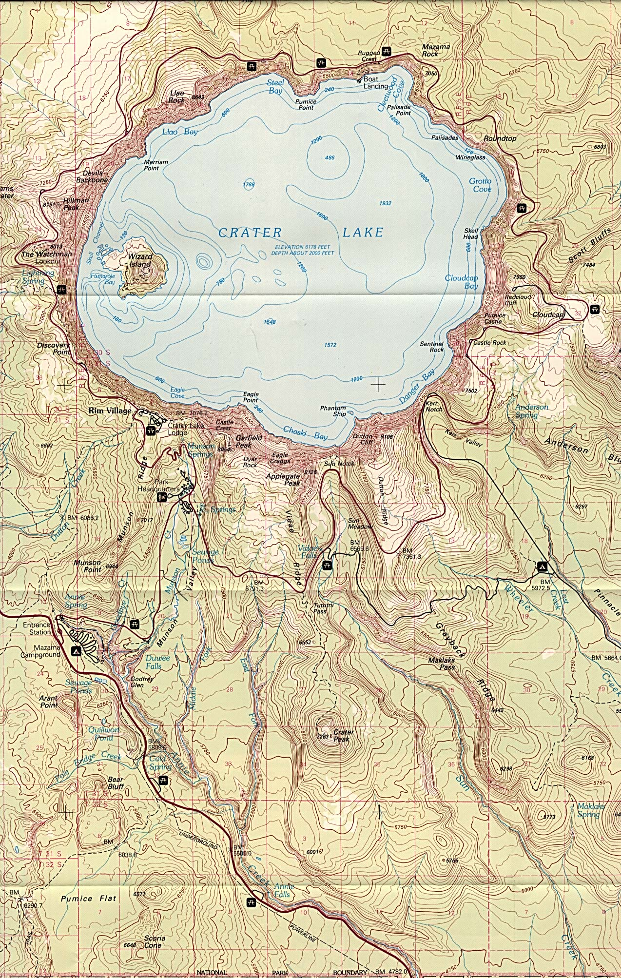 Maps of United States National Parks and Monuments Denali National Park Topographic Map on