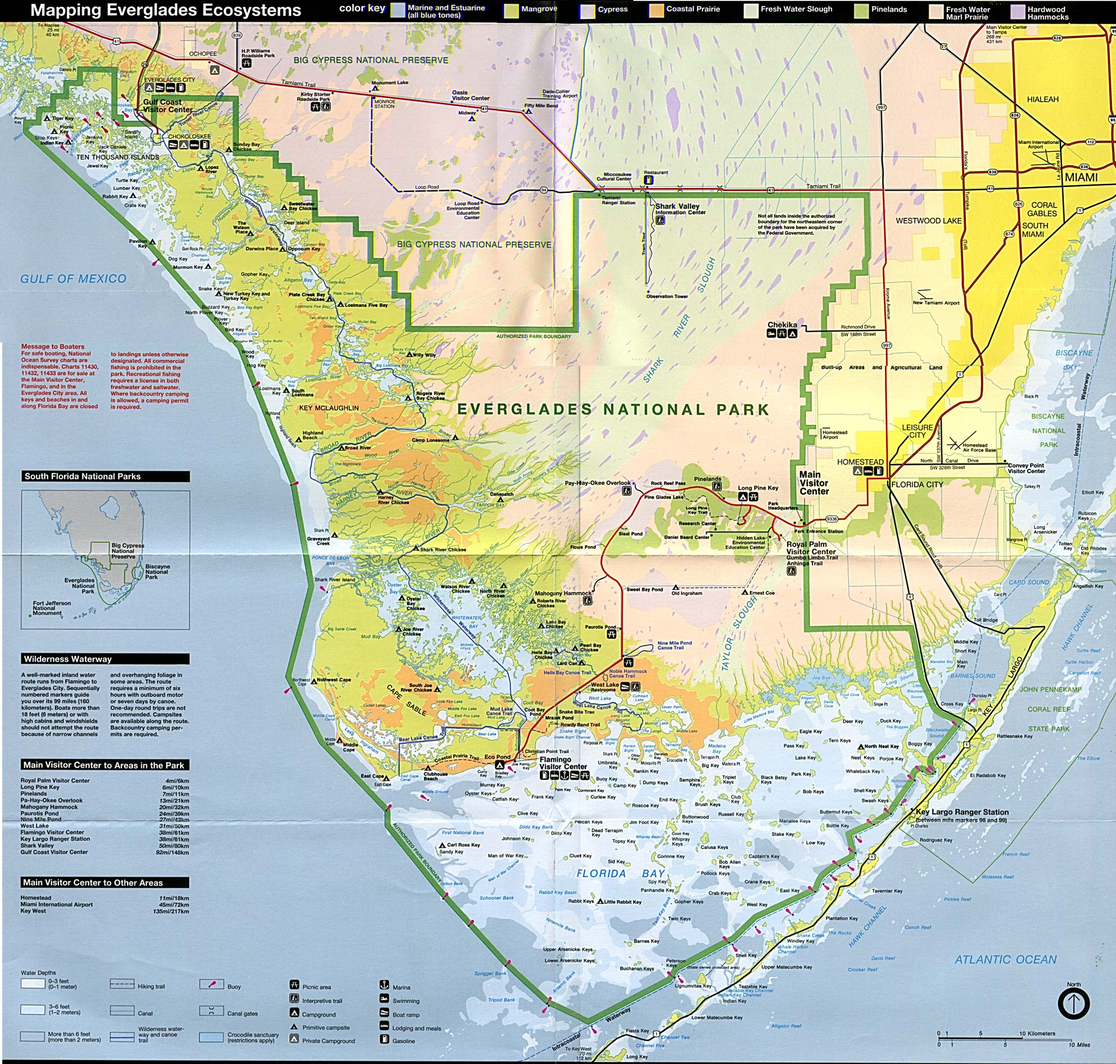Florida Parks Map.Maps Of United States National Parks And Monuments